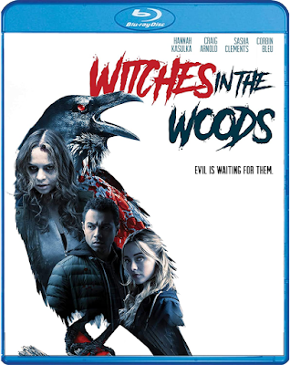 Cover art for Scream Factory's upcoming Blu-ray of WITCHES IN THE WOODS.