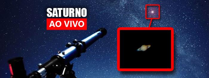 ao vivo - saturno com telescópio 2021 - máxima aproximação com a Terra e oposição
