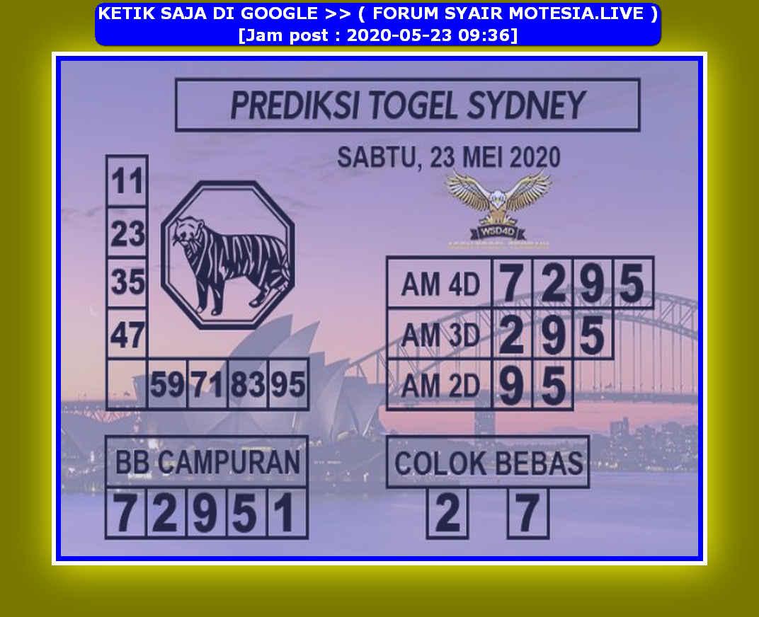 Kode syair Sydney Sabtu 23 Mei 2020 129
