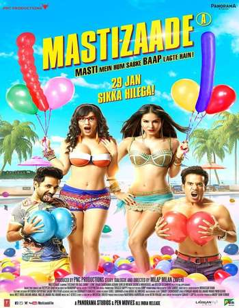 Poster Of Mastizaade 2016 Hindi 720p DVDRip ESubs Free Download Watch Online