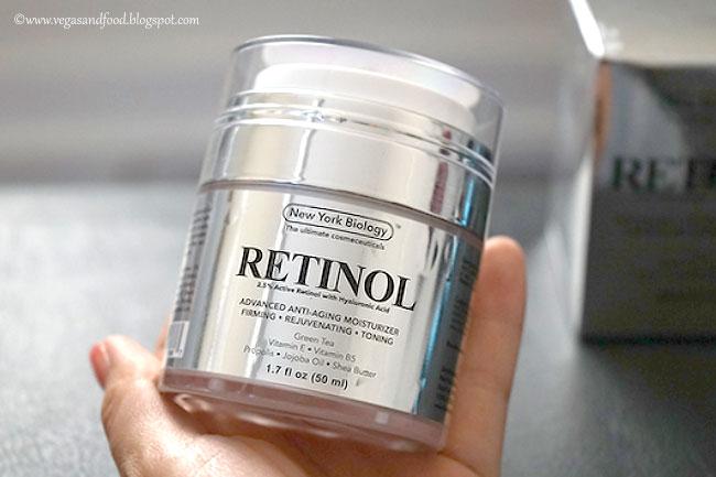 New York Biology Retinol Moisturizer with Hyaluronic - Vegas and Food