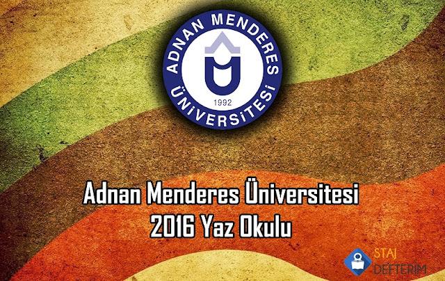 Adnan Menderes Üniversitesi 206 Yaz Okulu