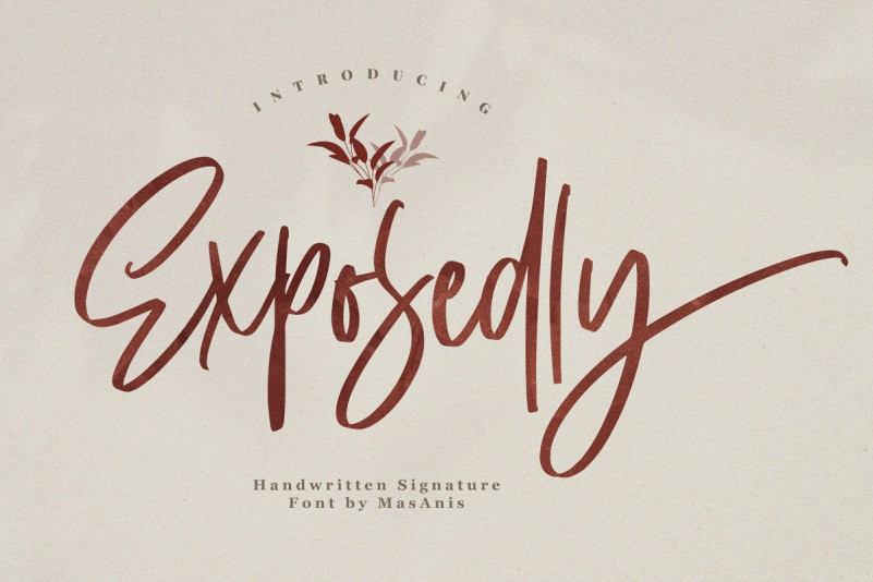 Exposedly Font - Free Modern Signature Typeface