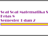Kumpulan Soal Matematika SMP Kelas 8