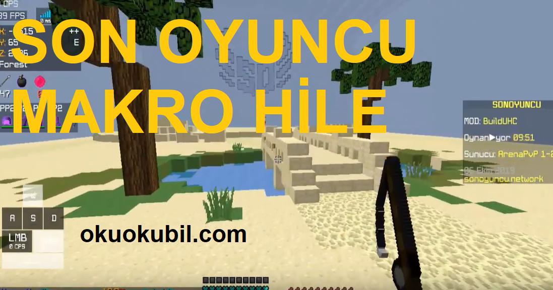 Minecraft Kahraman Son Oyuncu Uzaktan Vurma Makro Hack Indir
