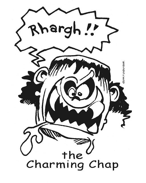 the charming chap, a cartoon drawing by Gerry lagendyk