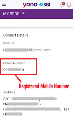how to check which mobile number is registered in my sbi account
