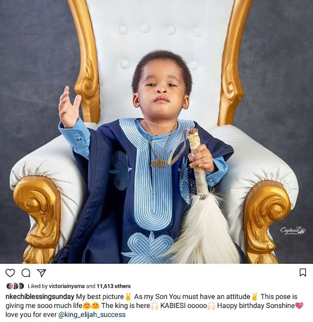 Nkechi Blessing Sunday celebrates son birthday