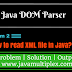 How to read XML file in Java using DOM Parser?