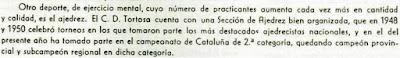 Recorte de prensa, Tortosa 1953