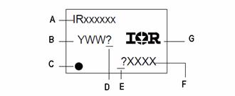 International Rectifier Leadfree Part Marking Schematic