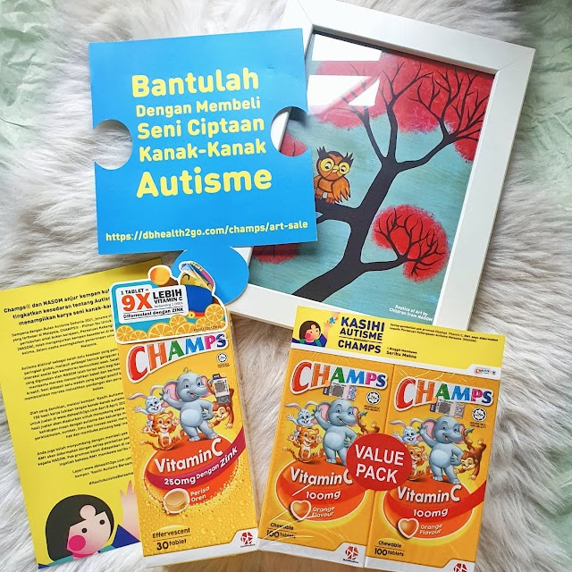 Duopharma Biotech's CHAMPS® and Nasom Champions Autism Awareness Fundraiser Featuring Art Crafted by Autism Children.