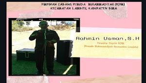 Rahmin Formatur Terpilih PCPM Kecamatan Lambitu