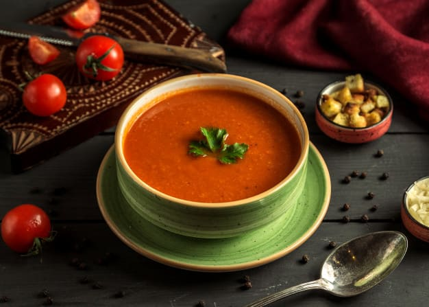 What are the benefits of tomato soup for diet?