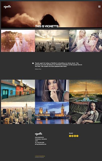 Vignett-  Grid Style wordpress theme for Photography