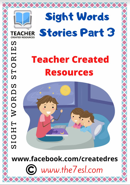 Reading Comprehension Sight Words Stories Part 3