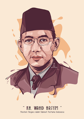 KH. Wahid Haysim in Vector