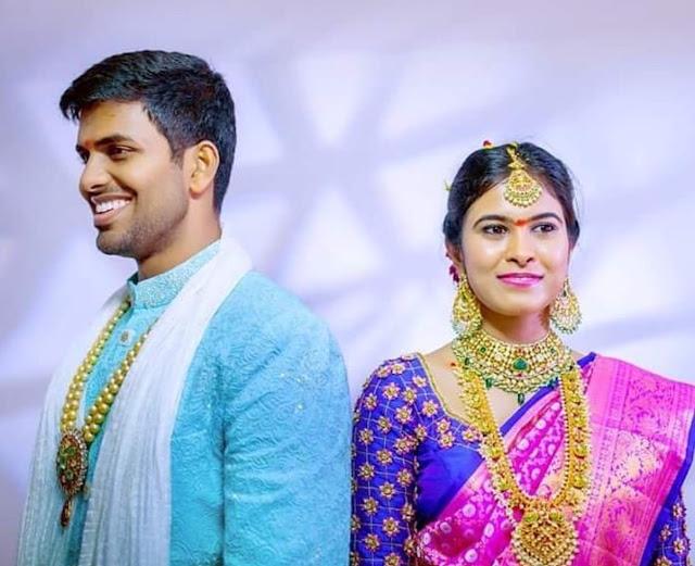 Bride in Guttapusalu Haram Choker