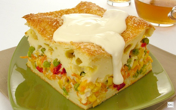 Receita de torta de legumes com requeijão (Imagem: Reprodução/Guia da Cozinha)