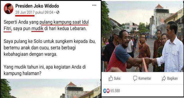 """Jokowi Tercyduk Gunakan """"Pulang Kampung"""" dan """"Mudik"""" dalam Arti Yang Sama"""