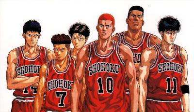 Poster Anime bertema basket Slam Dunk
