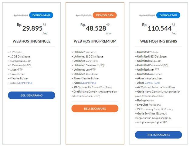 harga paket hosting24