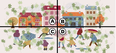 Alt Q 17-3. the wind is starting to get crazy in the city. kiki sees a dollar bill flying with the wind and tries to grab it. which part of the image has the dollar bill?