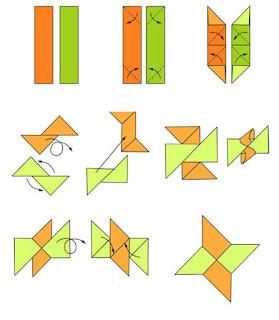 Tutorial cara membuat origami bintang ninja shuriken