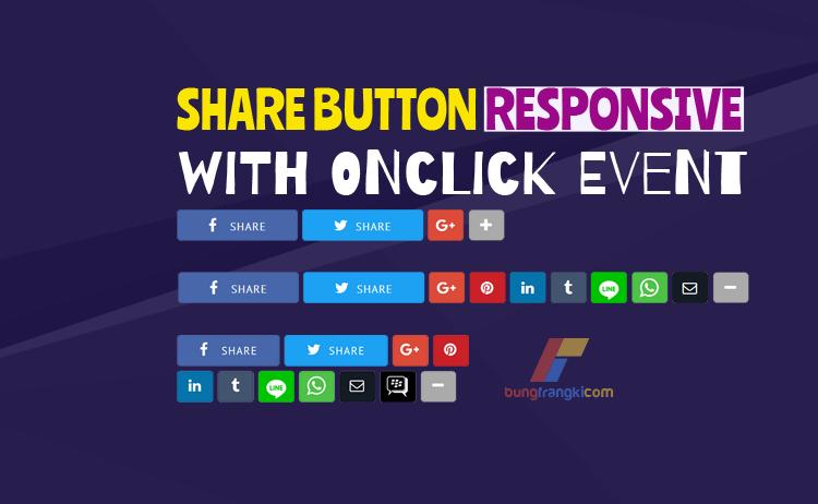 Share Button Responsive, Lengkap dengan Tombol WhatsApp, Line dan BBM