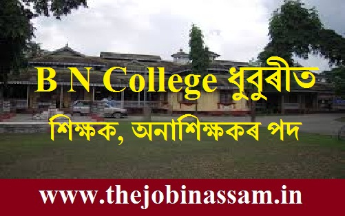 B N College Dhubri Recruitment 2019