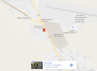 Ótima localização pertinho da UFAL e do Aeroporto e a 5 minutos de Maceió-AL.