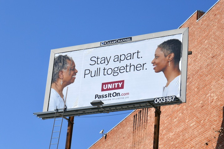 Stay apart Pull Together Unity billboard