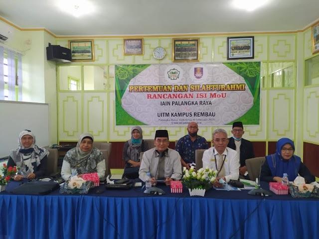 IAIN Palangka Raya Teken MoU dengan Universiti Teknologi MARA (UiTM) Kampus Rembau, Malaysia