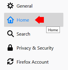 Firefox Home Settings