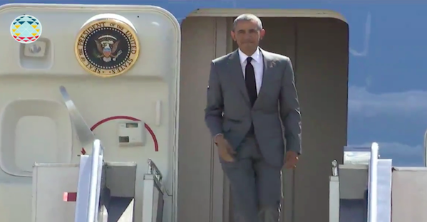 US President Barack Obama arrives in Manila for APEC Summit 2015