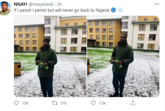 """If I Perish , I Perish , But I Will Never Come Back To Nigeria""- Nigerian Engineer vows"