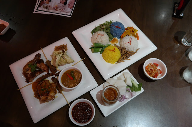 Malaysian Perfect Combo Menu this Ramadan at 10 Years Restaurant, 10 Years Restaurant, berbuka puasa murah, set combo buka puasa murah,Nancy's Kitchen Nyonya Laksa from Malacca, Nasi Lemak Panas Yati from Petaling Jaya, Nasi Dagang Kak Pah from Kuala Terengganu, Kak Tum Nasi Kuning, Kak Pah Nasi Dagang, Kak Yati Nasi Lemak and Kelantan Nasi Kerabu, Nasi Kuning, Nasi Lemak, Nasi Dagang, Nasi Kerabu, Chicken with Percik Sauce, Fried Chicken, Fish Curry, Chicken Satay, Rice Cake, Red Onion, Cucumber, Ketupat Palas, Serunding Ikan,