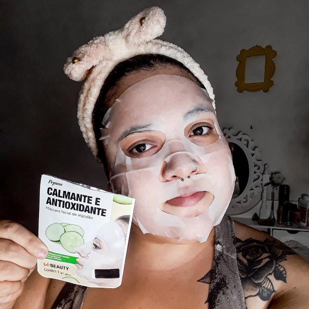 Máscara facial de pepino K-Beauty