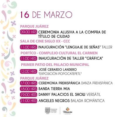 programa festiva tehuacán 2020 16 de marzo