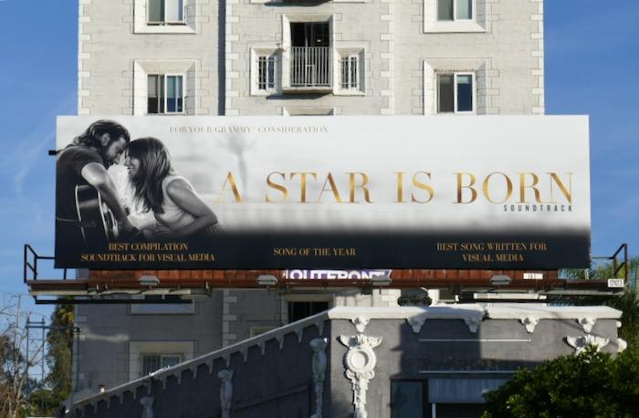 A Star Is Born Grammy consideration billboard