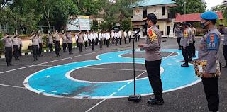 Pimpin Upacara Purna Bhakti Kabag Ren,  Kapolres Pangkep Sampaikan Ini