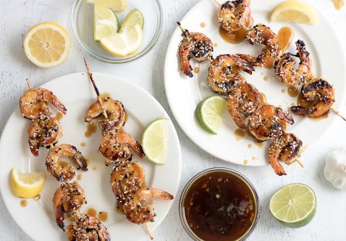 Sesame Shrimp Skewers #lowcarb #recipe