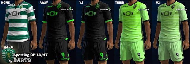 PES 2013 Sporting CP Kit Season 2016-2017