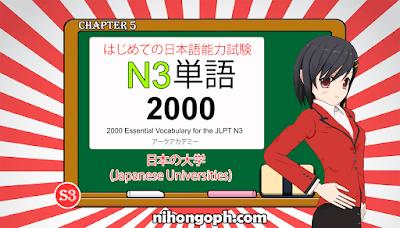 N3 Vocabulary 日本の大学(Japanese Universities)