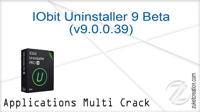 IObit Uninstaller 9 Beta (v9.0.0.39)    |   19 MB
