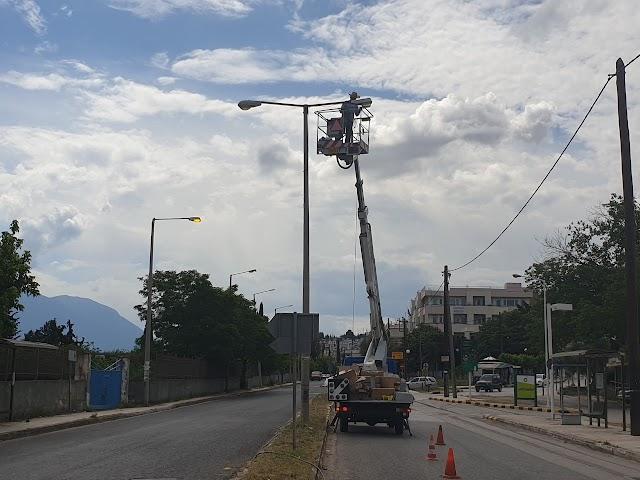 Λαμία: Ρυθμίσεις στην κυκλοφορία των οχημάτων για την αντικατάσταση του δημοτικού φωτισμού σε κεντρικές οδούς