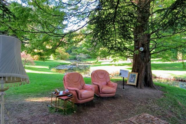Armchairs at the National Botanic Garden in Dublin Ireland