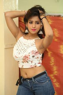 Deekshita Parvathi in a short crop top and Denim Jeans Spicy Pics Beautiful Actress Deekshita Parvathi January 2017 CelebxNext (81).JPG