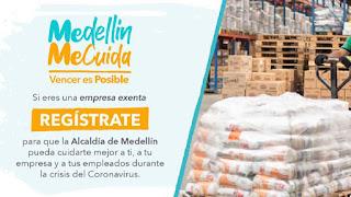 Formulario reactivación economica Medellín Me Cuida
