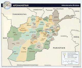 Afghanistan Kandahar map